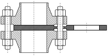 Заглушка поворотная (обтюратор)