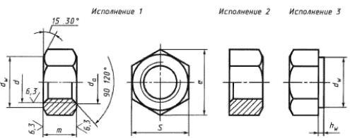 Гайка ГОСТ 5915-70 (ГОСТ 5927-70)