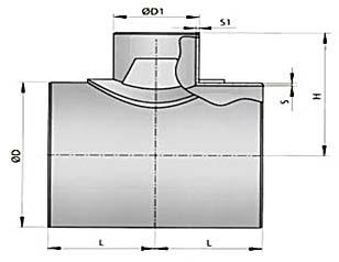 Тройник штампосварной с накладкой (Тройник ТШСН)