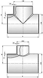 Тройники варные (ОСТ 36-24-77, ОСТ 34.10.762-97 и пр.)
