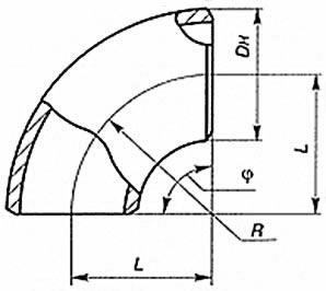 Отвод  крутоизогнутый штампосварной (отводы ОКШ)