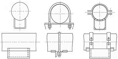 Опоры стальных технологических трубопроводов (ОСТ 36-146-88)