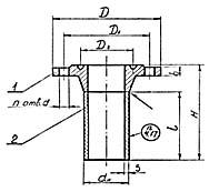 Штуцер для сосудов и аппаратов по АТК 24.218.06-90 (тип 2, исполнение 6)