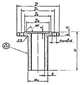 Штуцер для сосудов и аппаратов по АТК 24.218.06-90 (тип 3, исполнение 3)