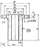 Штуцер для сосудов и аппаратов по АТК 24.218.06-90 (тип 3, исполнение 4)