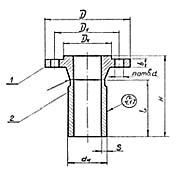 Штуцер для сосудов и аппаратов по АТК 24.218.06-90 (тип 4, исполнение 2)
