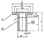 Штуцер для сосудов и аппаратов по АТК 24.218.06-90 (тип 4, исполнение 3)