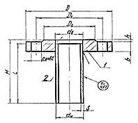 Штуцер для сосудов и аппаратов по АТК 24.218.06-90 (тип 1, исполнение 1)