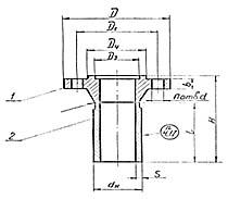 Штуцер для сосудов и аппаратов по АТК 24.218.06-90 (тип 4, исполнение 4)