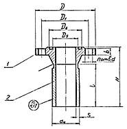 Штуцер для сосудов и аппаратов по АТК 24.218.06-90 (тип 4, исполнение 5)