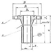Штуцер для сосудов и аппаратов по АТК 24.218.06-90 (тип 4, исполнение 6)