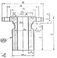 Штуцер для сосудов и аппаратов по АТК 24.218.06-90 (тип 5, исполнение 1)
