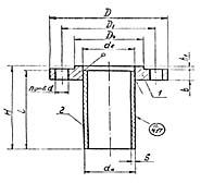 Штуцер для сосудов и аппаратов по АТК 24.218.06-90 (тип 1, исполнение 2)