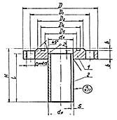 Штуцер для сосудов и аппаратов по АТК 24.218.06-90 (тип 1, исполнение 5)
