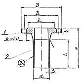 Штуцер для сосудов и аппаратов по АТК 24.218.06-90 (тип 2, исполнение 1)