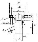 Штуцер для сосудов и аппаратов по АТК 24.218.06-90 (тип 2, исполнение 2)