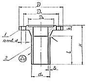 Штуцер для сосудов и аппаратов по АТК 24.218.06-90 (тип 2, исполнение 3)